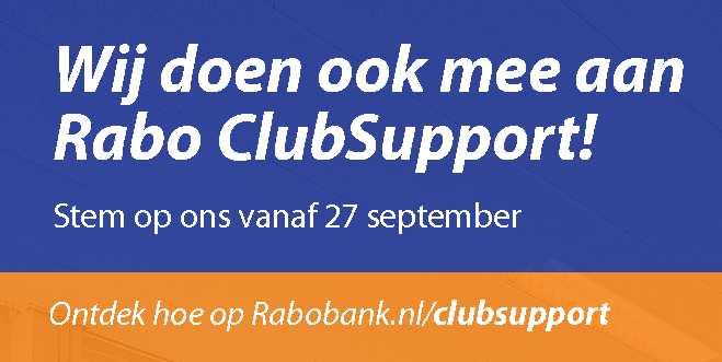 Sparta Nijkerk doet mee met Rabo ClubSupport!